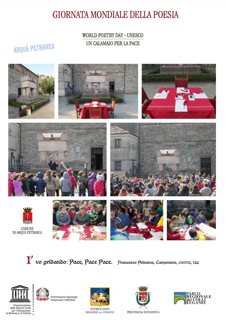 Giornata Mondiale Poesia Arquà Petrarca
